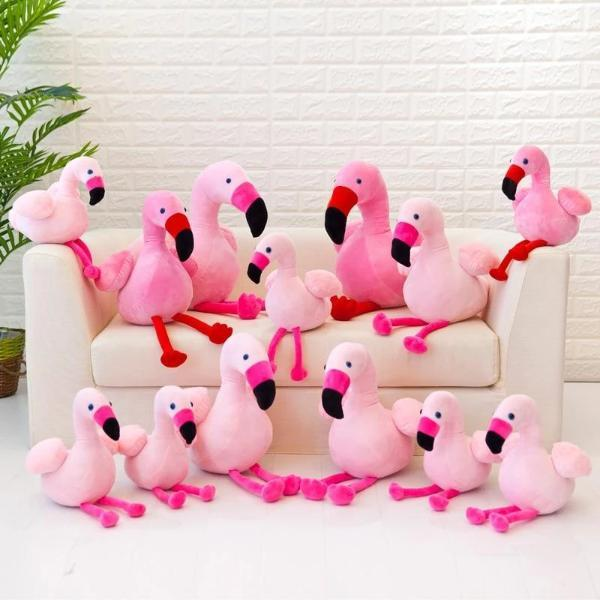 Peluche flamant rose insolite