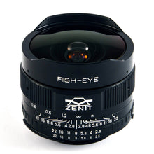 Load image into Gallery viewer, Zenitar 16mm f/2.8 Fish-Eye lens for m42 mount