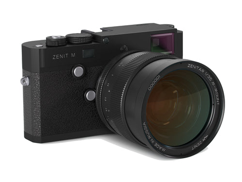 Zenit-M Camera and 35mm f/1.0 Lens Kit - Limited Edition Black Version