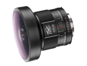 "MC-Zenitar 8mm f/3.5 ""fish-eye"" lens in Nikon Mount"