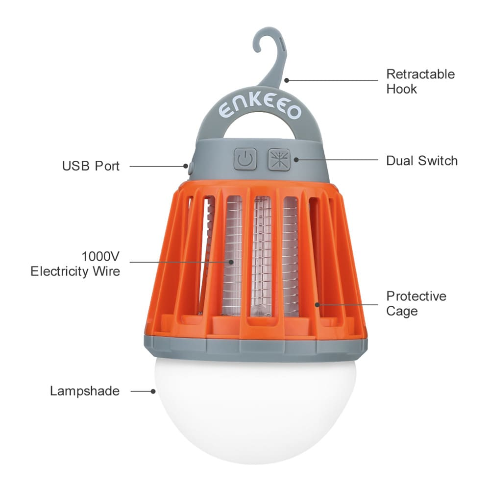 Portable Camping Light Bulb USB Charging LED Mosquito Killer Lamp Waterproof Repellant Pest Insect Mosquito Killer1
