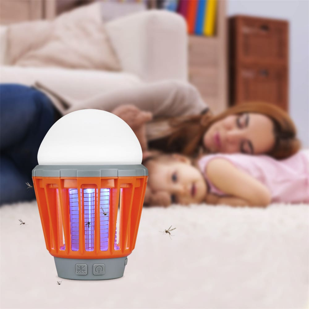Portable Camping Light Bulb USB Charging LED Mosquito Killer Lamp Waterproof Repellant Pest Insect Mosquito Killer10