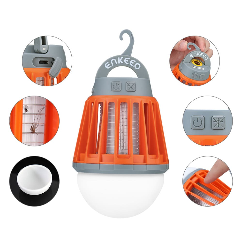 Portable Camping Light Bulb USB Charging LED Mosquito Killer Lamp Waterproof Repellant Pest Insect Mosquito Killer8