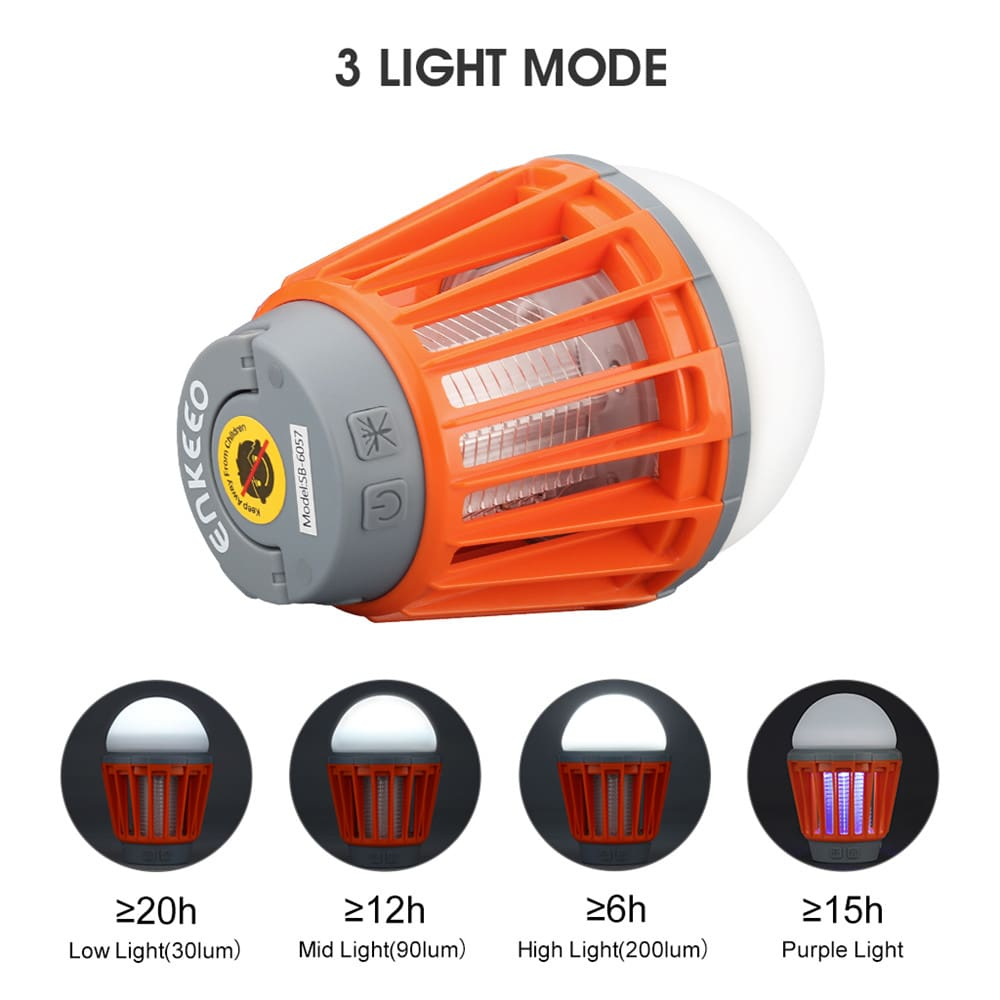 Portable Camping Light Bulb USB Charging LED Mosquito Killer Lamp Waterproof Repellant Pest Insect Mosquito Killer4