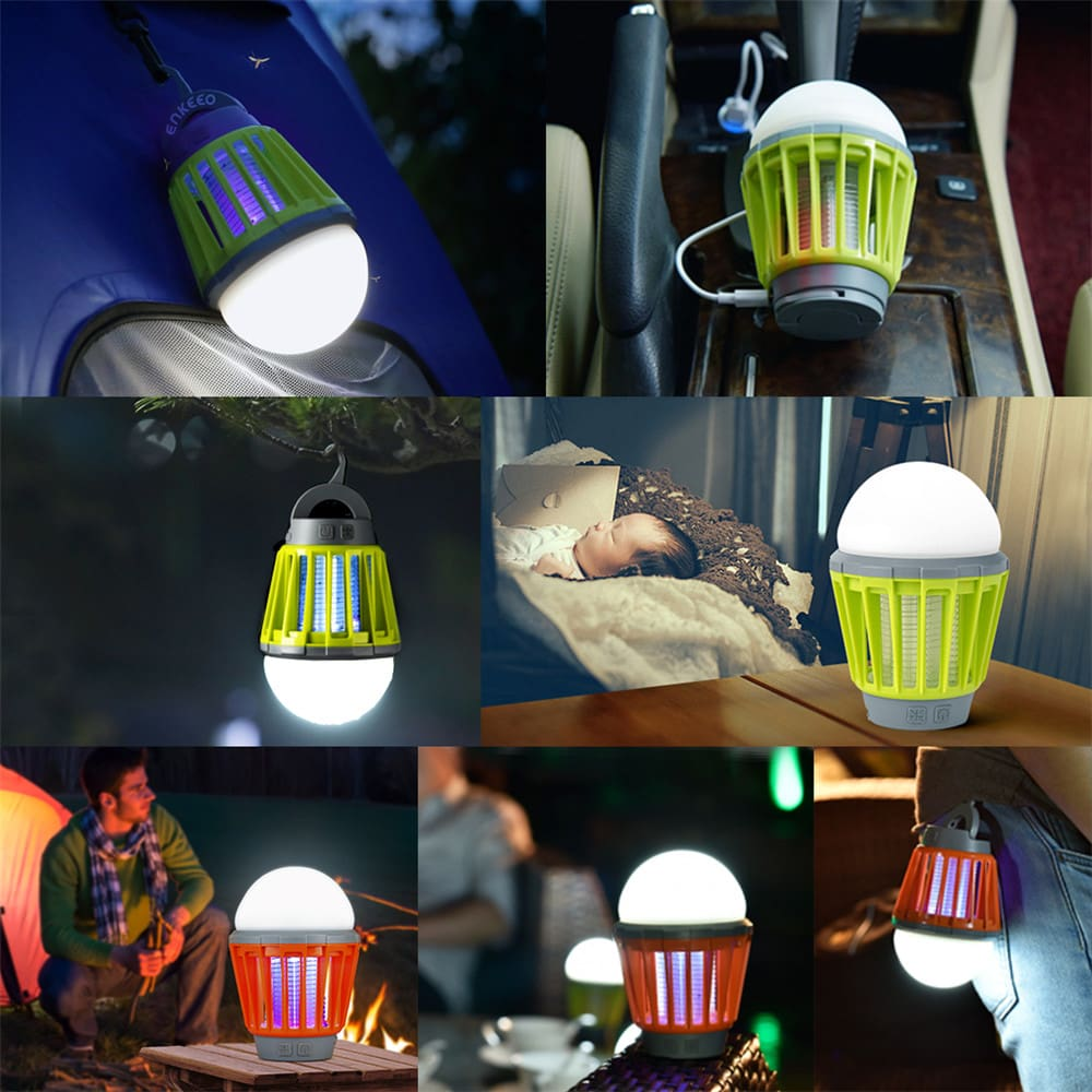 Portable Camping Light Bulb USB Charging LED Mosquito Killer Lamp Waterproof Repellant Pest Insect Mosquito Killer3