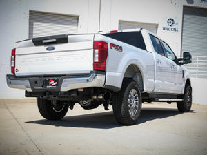 "2017-2021 Ford F250/350 aFe Apollo GT Series 3-1/2"" 409 Stainless Steel Axle-Back Exhaust System No Muffler (6.2L & 7.3L)"