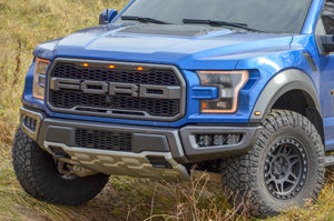 2017+ Ford Raptor Stainless Steel Triple Fog Light Kit With Diode Dynamics SS3 Lights - NEO Garage