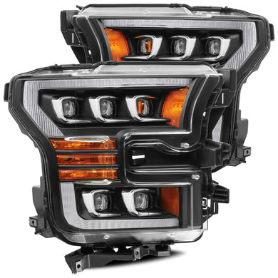 2017-2020 Ford Raptor AlphaRex NOVA-Series LED Projector Headlights Pair