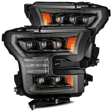 2017-2020 Ford Raptor AlphaRex NOVA-Series LED Projector Headlights Pair - Black