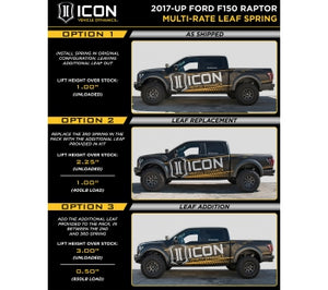 Icon RXT Leaf Springs - NEO Garage