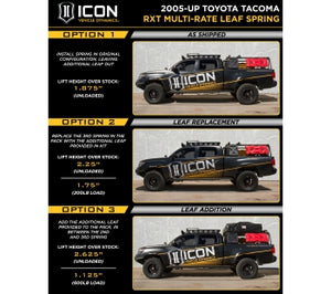 ICON RXT Leaf Springs