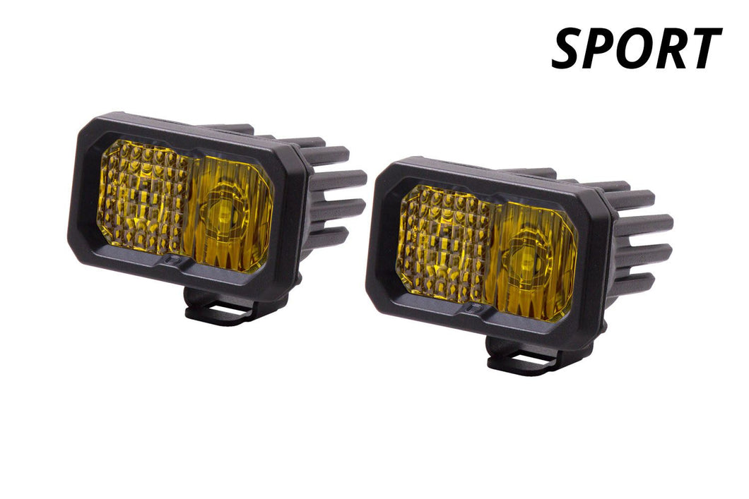Diode Dynamics Stage Series C2 LED Lights, Amber SPORT