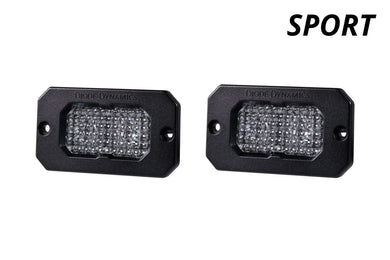 Diode Dynamics Stage Series C2 Flush Mount LED Lights, White SPORT