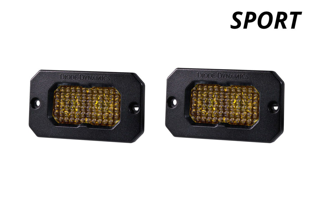 Diode Dynamics Stage Series C2 Flush Mount LED Lights, Amber SPORT