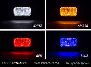 Diode Dynamics Stage Series C2 Flush Mount LED Lights, White PRO