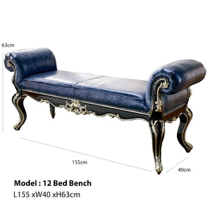 All Decor Bed Bench with Rolled Arms
