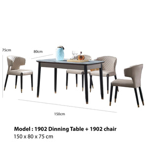 Glass Surface Dining Set
