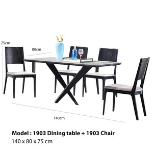 Franklin Marble Surface Dining Set