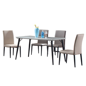 Almond Marble Surface Dining Set