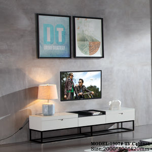 Almond White Tv Cabinet