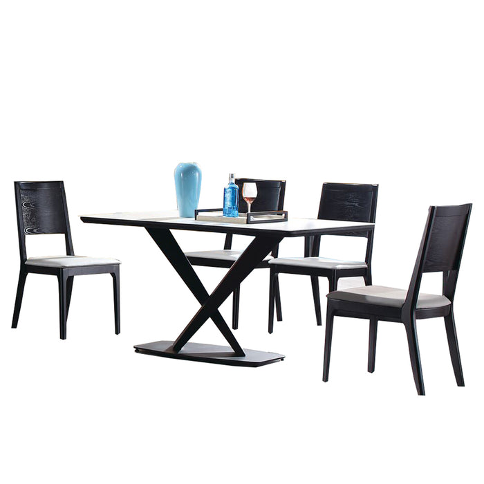 Mauvin Marble Surface Dining Set