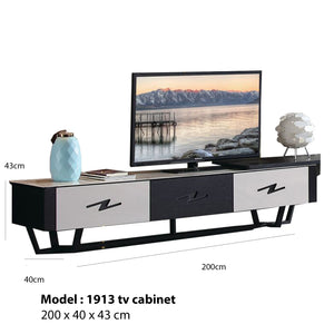 Mauvin Tv Cabinet with hidden space and retractable