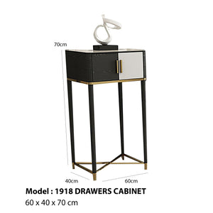 Krasnik Black Matte 2-Drawer Cabinet