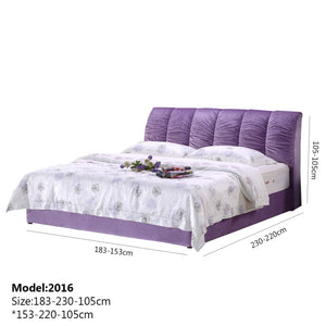 Fantastic Purple Upholstered Bed