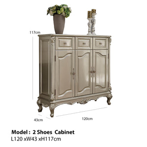 Shoe Cabinet With 3 Compartments