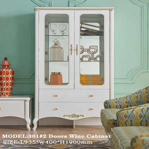 MDF- Based Double Door Wine Cabinet