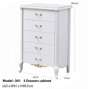 Multipurpose 5 Drawers Cabinet