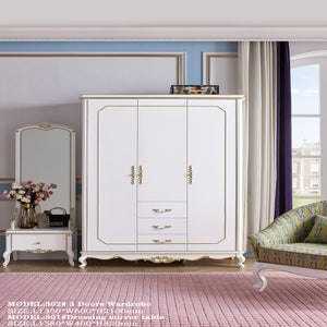 Flexible Three Doors Wardrobe