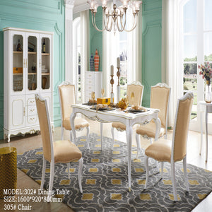 Sleek Traditional Style Dining Set