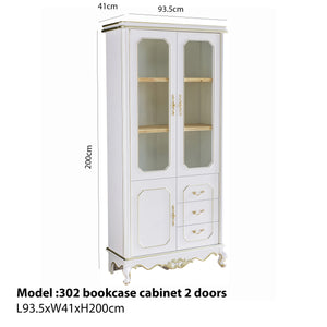 2 Door Bookcase With Pull out Drawer