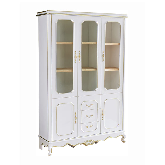 Bookcase with 3 doors cabinet