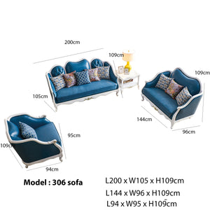 Zardoni sofa set