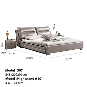 Julian Upholstered Platform Bed with Nightstand