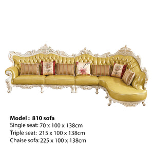 Yellow Traditional Sofa Bed