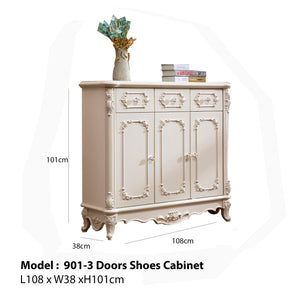 Three Doors Shoe Cabinet