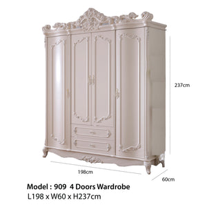 Beautiful Shabby Chic pure white Wardrobe