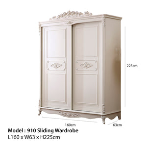 Beautiful Shabby Chic pure white Wardrobe (Brody Hash)
