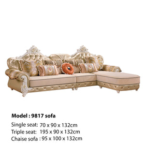 Royal Golden Sofa Chaise Bed