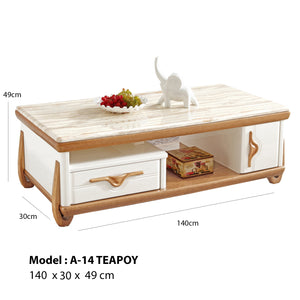 Teapoy with Marble Top