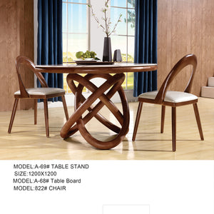 Herald Whirly Round Dining table set