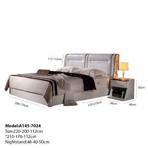 Elegant Tufted Upholstered Platform Bed