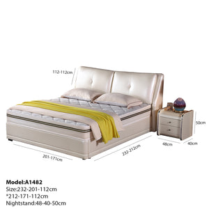 Arno Upholstered Platform Leather Bed