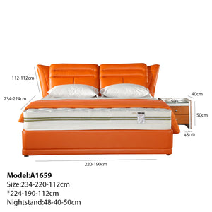 Exquisitely Designed Upholstered Panel Bed