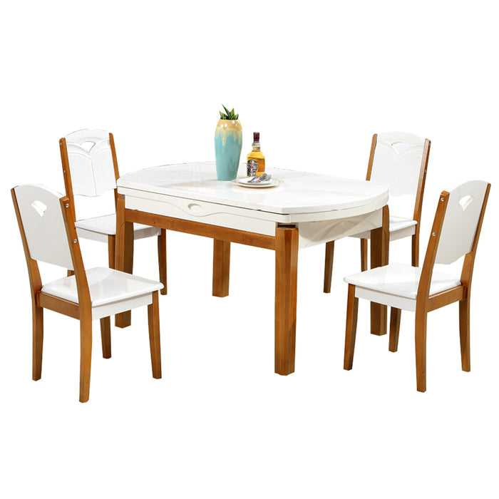 Herald White Dining Set