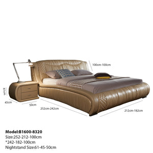 Basleey Upholstered Leather Bed for Personalized Sleep