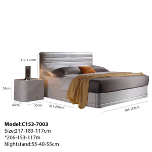 Optimal Pressure Relief Upholstered Platform Bed